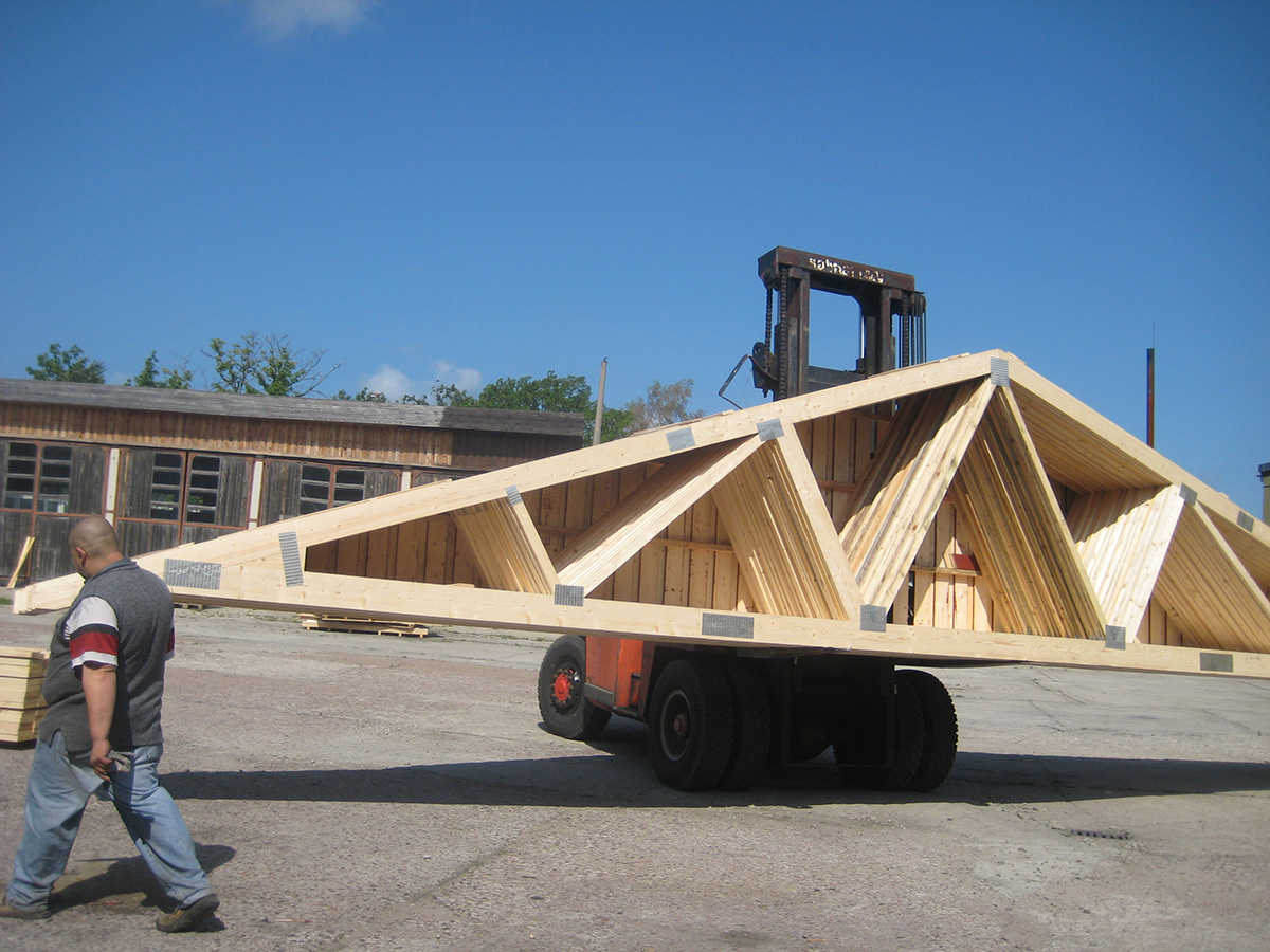 The Timber Used In Our Trusses Comes From Our Own Production   We Can  Therefore Put Our Own Quality Stamp On Our Products.